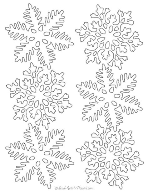 snowflake pattern to color snowflakes coloring pages printable az coloring pages