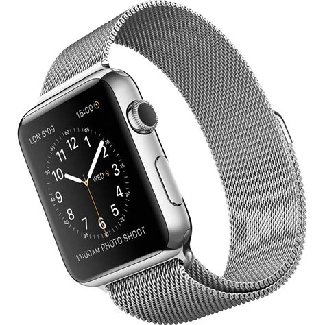 Apple 42mm Stainless by Apple 42mm Stainless Steel With Milanese Loop