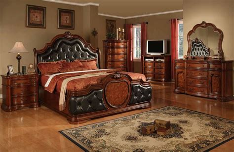 cherry wood furniture bedroom cherry bedroom furniture leather headboard cherry wood