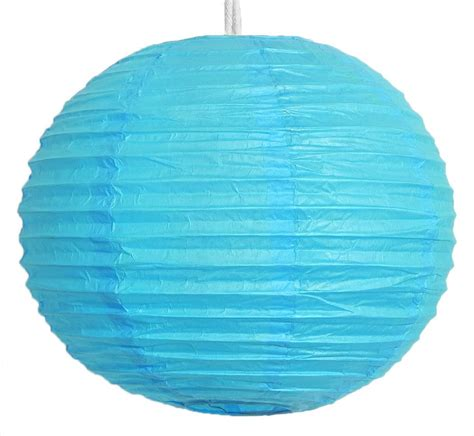 hanging paper l shades foldable hanging round cyan blue paper l shade