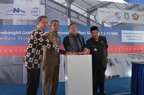 Sekam Bakar Pontianak menteri ppn resmikan pembangkit tenaga listrik di siantan