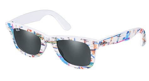 Sunglass Raybann Wayfarer Submay Map Print ban wayfarer prints collection nitrolicious