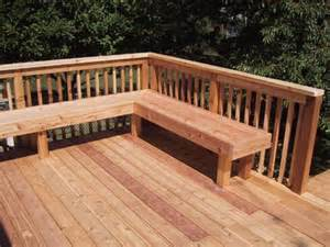 Deck Benches With Backs Deck Bench Pictures