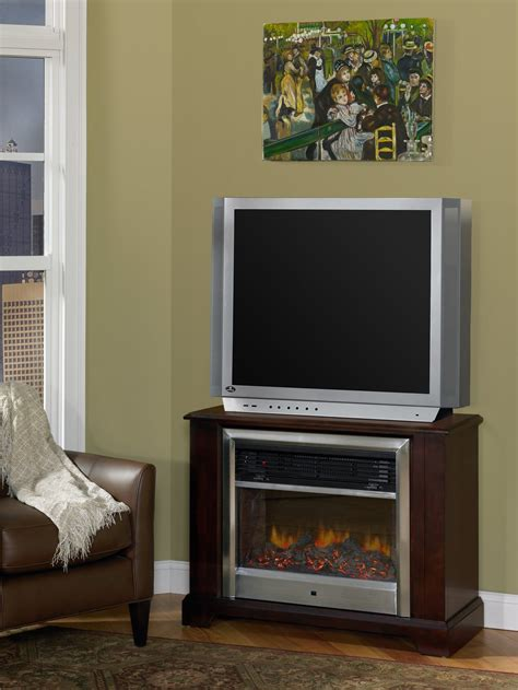 solid wood entertainment center and faux fireplace 1020