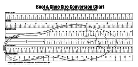 size chart template printable foot size chart freepsychiclovereadings