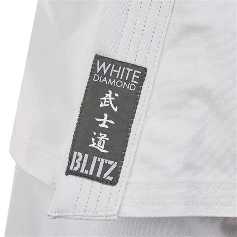 swing life stiles adult white diamond karate suit