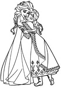 coloring pages elsa and anna images