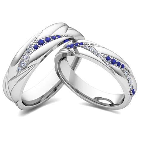 build matching wedding ring band for him and diamonds