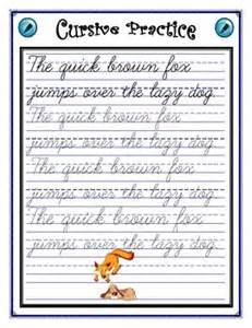 cursive practice sentence writing pinterest