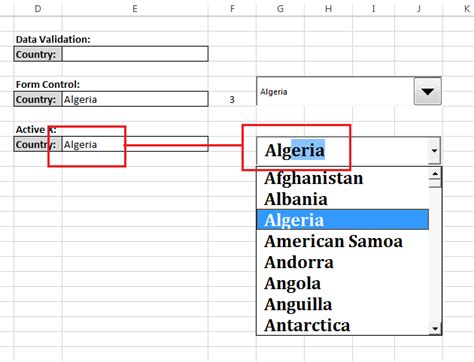 Alg Excel Top how to create drop lists three different ways in
