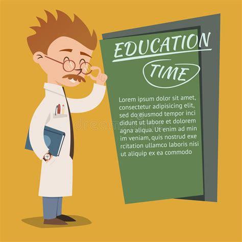 4 designer illustration style education vintage style education time poster design stock vector