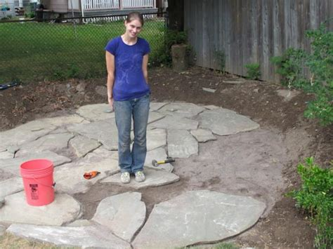 how to lay flagstone patio how to install a flagstone patio with irregular stones diy network made remade diy
