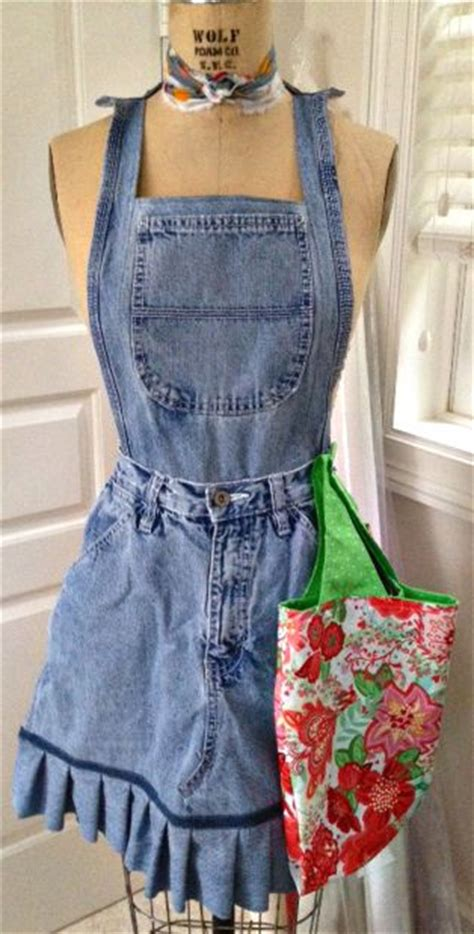 pattern for blue jean apron how to make aprons from blue jeans sewing pinterest