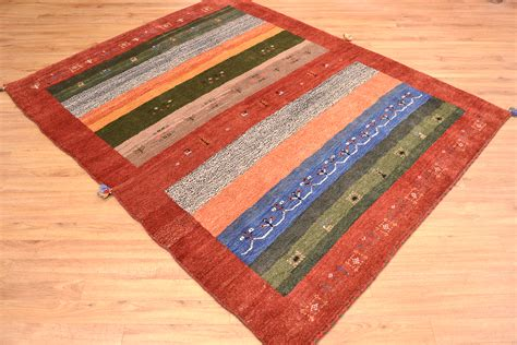 rug thickness knotted modern gabbeh rug the rug merchant