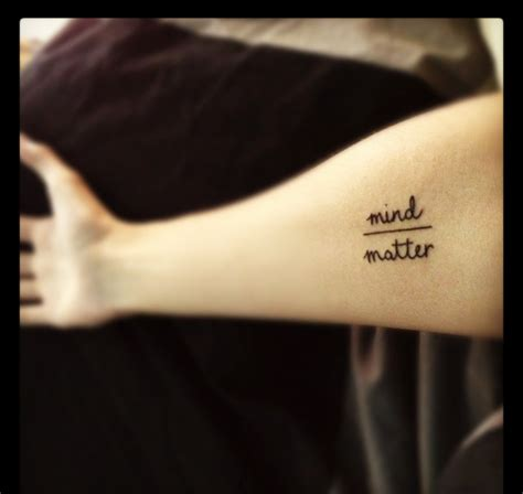 mind over matter tattoo designs tattoos ink geometric line minimal