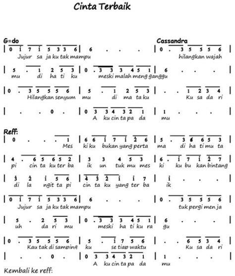 not angka lagu makna cinta 100 not angka lagu pop pianika anak anak balok