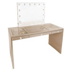 Clear Vanity Table Impressions Vanity Co Slaystation Plus Premium Vanity Table In Chagne Gold
