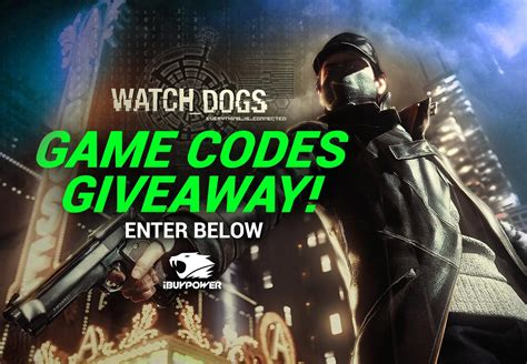 Www Ibuypower Com Giveaway - watch dogs game codes giveaway ibuypower gaming news
