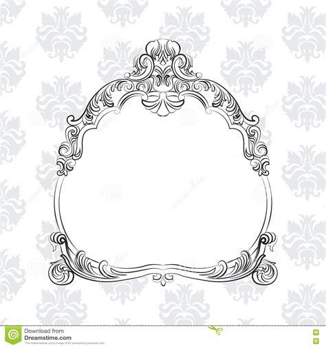 royal pattern frame vintage baroque royal vector frame on classic pattern