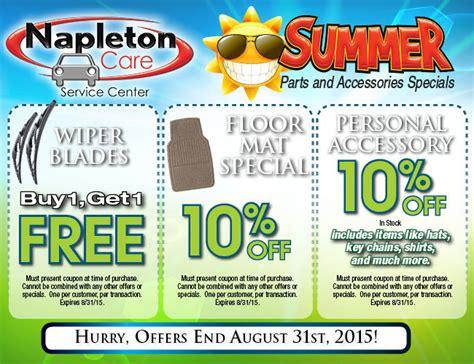 parts department coupons specials shop napleton
