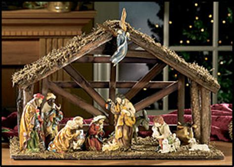 nativity sets for christmas holiday