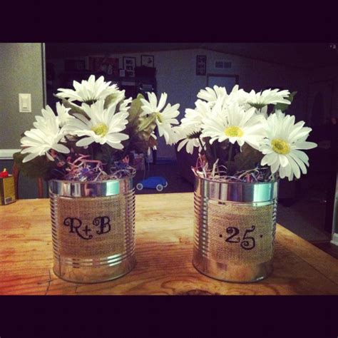centerpieces for my parent s 25th anniversary things i made jars centerpieces