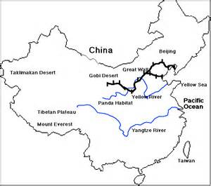 Great Wall Of China Map Outline by Mapping Lessons