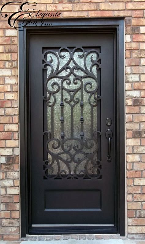 custom wrought iron door single doors