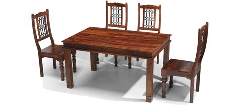 dining table with bench and 4 chairs jali sheesham 140 cm chunky dining table and 4 chairs