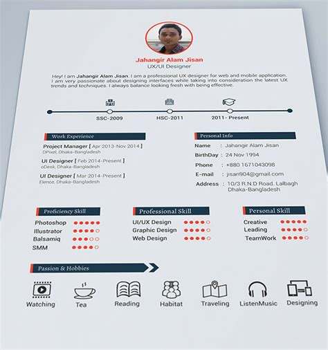 Resume Portfolio Template by 10 Best Free Resume Cv Design Templates In Ai Mockup