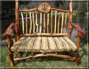 Telephone Bench Spirit Of The West Log Furniture Diamond Willow