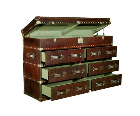 Steamer Trunk With Drawers by Vintage Cigar Leather Steamer Chest With Drawers Sku Ph