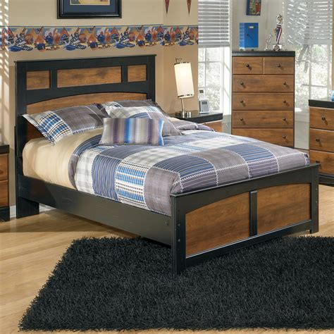 platform bed ashley furniture two tone finish full platform bed by signature design by