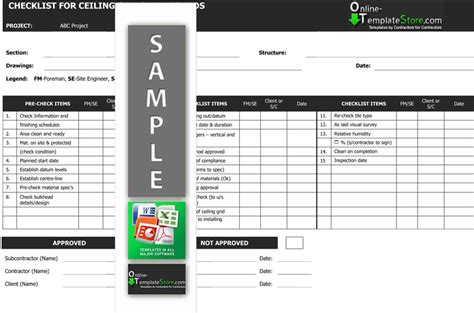 Quality Control Forms Construction Templates Quality Checklist Template Construction