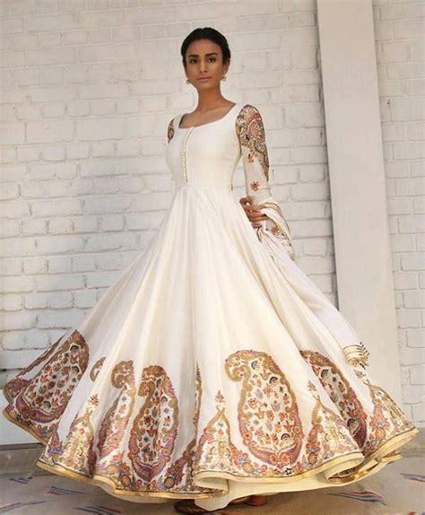 Embroidered Off White Anarkali   Anarkali Suit Of 2017