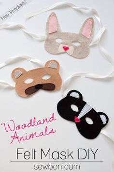 woodland animal masks template 1000 images about paper mask craft on