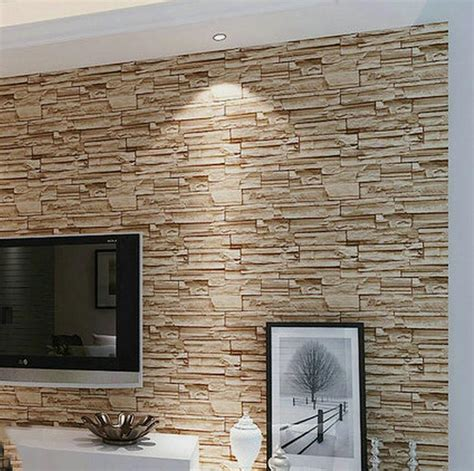 thick wallpaper aliexpress buy modern 3d brick off white classic home decor factory direct special modern 3d brick