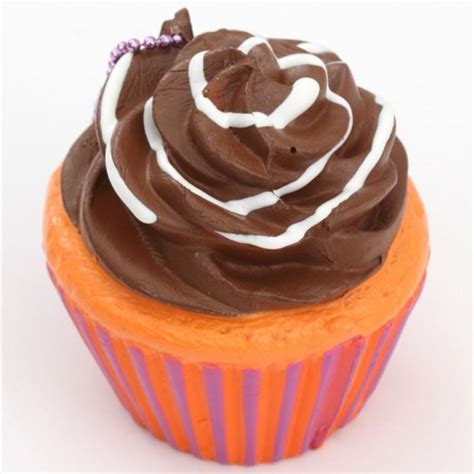 brown icing orange purple base cupcake squishy charm sammy