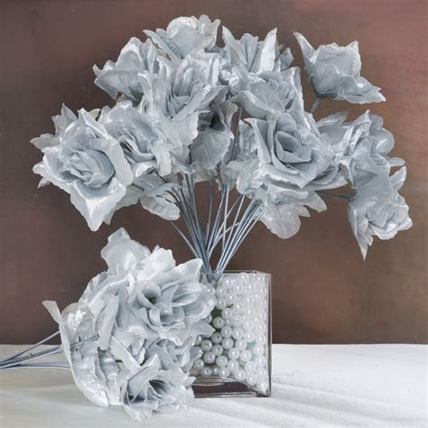 252 Open Roses Wedding Wholesale Discount Silk Flowers Silk Flower Wedding Centerpieces