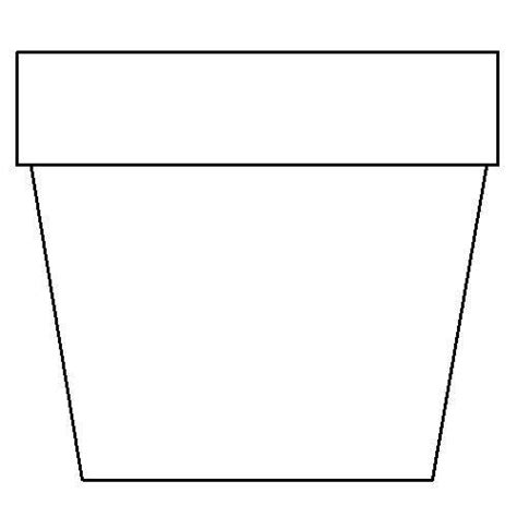 potted flower pot card flowers templates flower pot template template business
