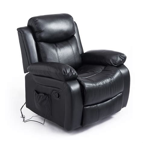 electronic recliners homcom deluxe electronic heated massage sofa recliner