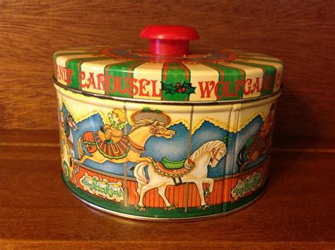 collectable wolfgang candy carousel tin merry   ebay