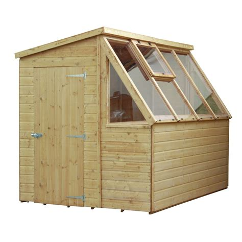 mercia wooden   ft shiplap potting shed  reviews