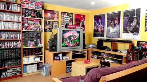my game room and collection 2014 retro video gaming game room tour 2 300 games metaljesusrocks