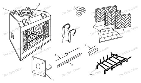 Vermont Castings Fireplace Parts by Shr48 Hh30r0 Shr48 The Cozy Cabin Stove Fireplace