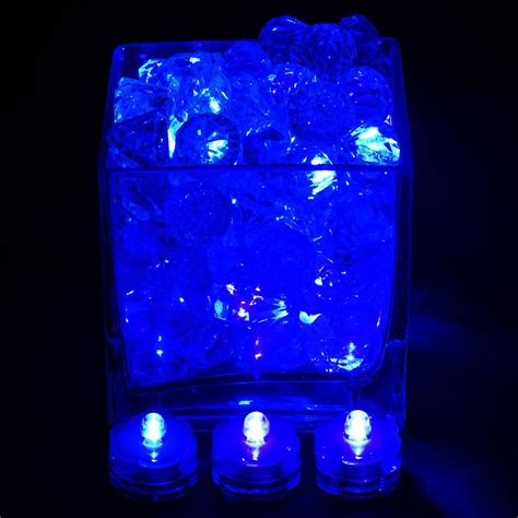 Brilliant Submersible Vase Lights Led Blue 12 Pk Efavormart Led Waterproof Light