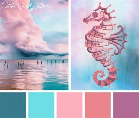 colour inspiration color inspirations cotton candy skies stitchpunk