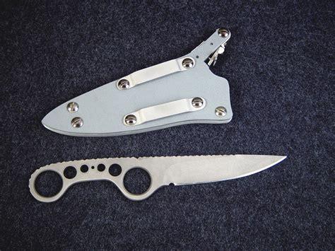 shank knife quot shank quot skeletonized custom handmade knife by fisher