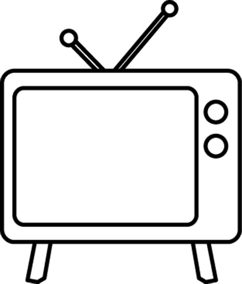 Tv Outline Png by Free Television Clip Pictures Clipartix
