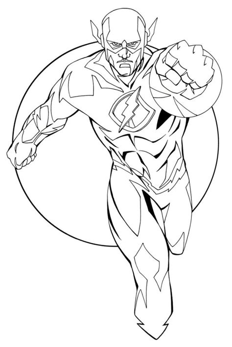 printable coloring pages justice league flash coloring pages best coloring pages for
